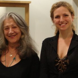 with Martha Argerich after playing Piazzolla for 2 pianos